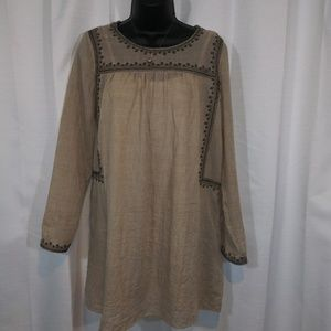 Last Call - Boho Mistic Prysm tan dress sz. Small
